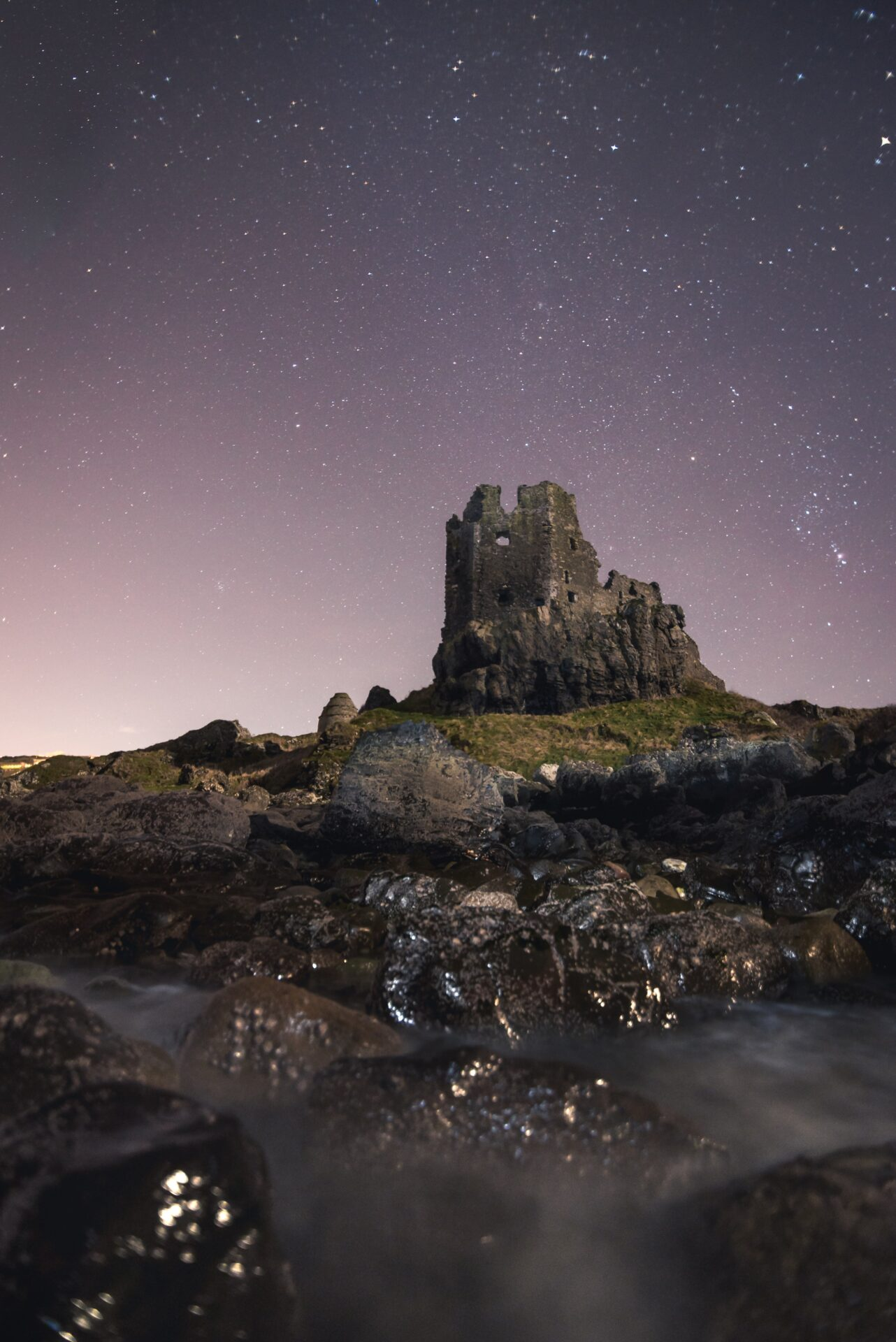 Greenan Castle at Night