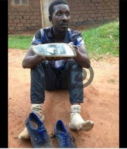 Qute Kaye caught stealing car headlights in Busega