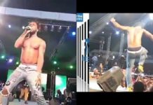 Burna Boy files apologies after kicking a fan on stage