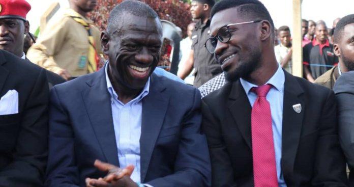 Bobi Wine, Besigye team declared unity between the two teams but Besigye still silent