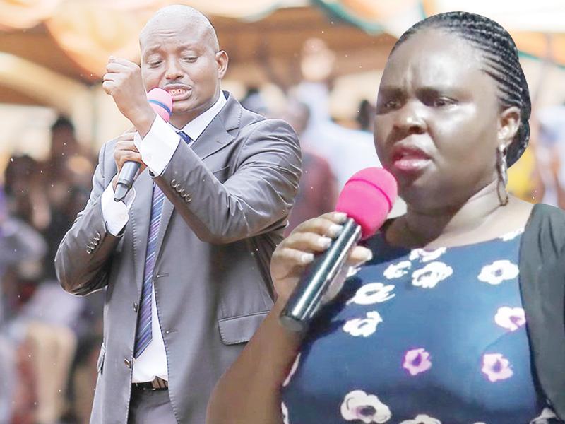 Pastor Aloysius Buggingo, wife Teddy Buggingo marriage on rock. File photo