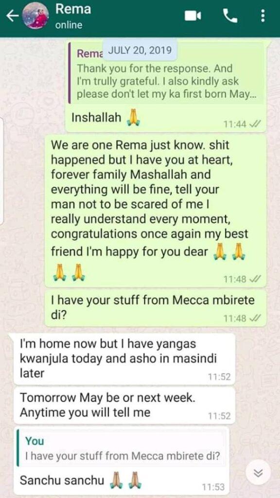 Kenzo Rema leaked Whatsapp