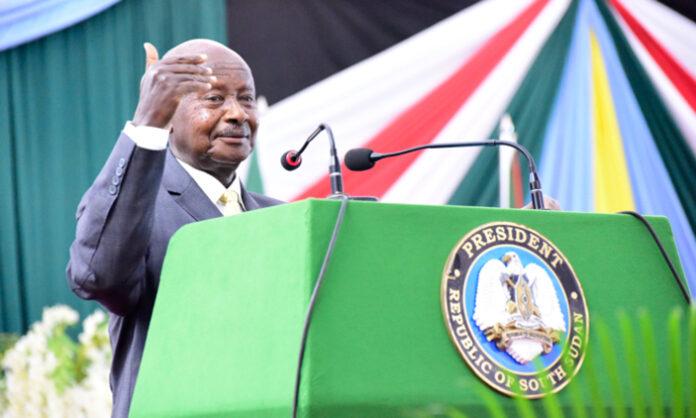 museveni blames south sudan leaders