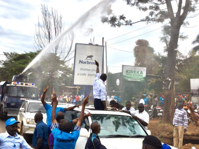 Catholic Bishops Kizza Besigye protest