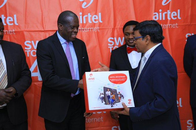 State-Minister-for-Trade-Werikhe-Kafabusa Airtel Broadband internet