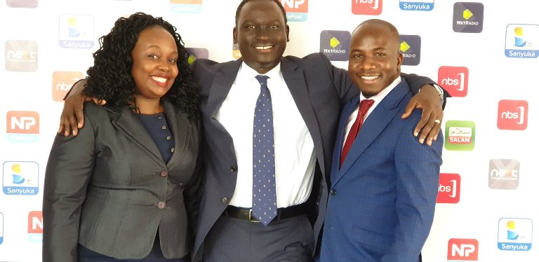 Zambaali Bulasio with CEO-Kariisa and NBS TV Head of News Joyce Bagala