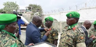 AU honors UPDF battle group in Somalia with medals