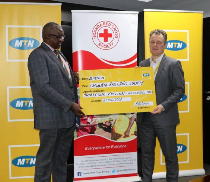 MTN donates Bundibugyo floods