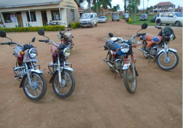 Uganda registration of Boda boda number plates