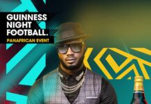 Bebe Cool jets in Nigeria Guinness Night Football Pan Africa