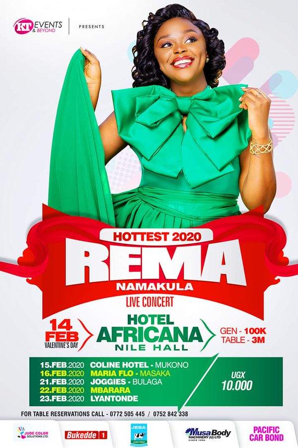 Rema Namakula live in concert