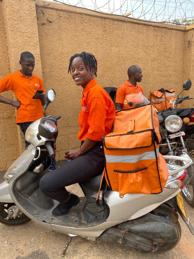 Kabarihira Barbara delivery rider