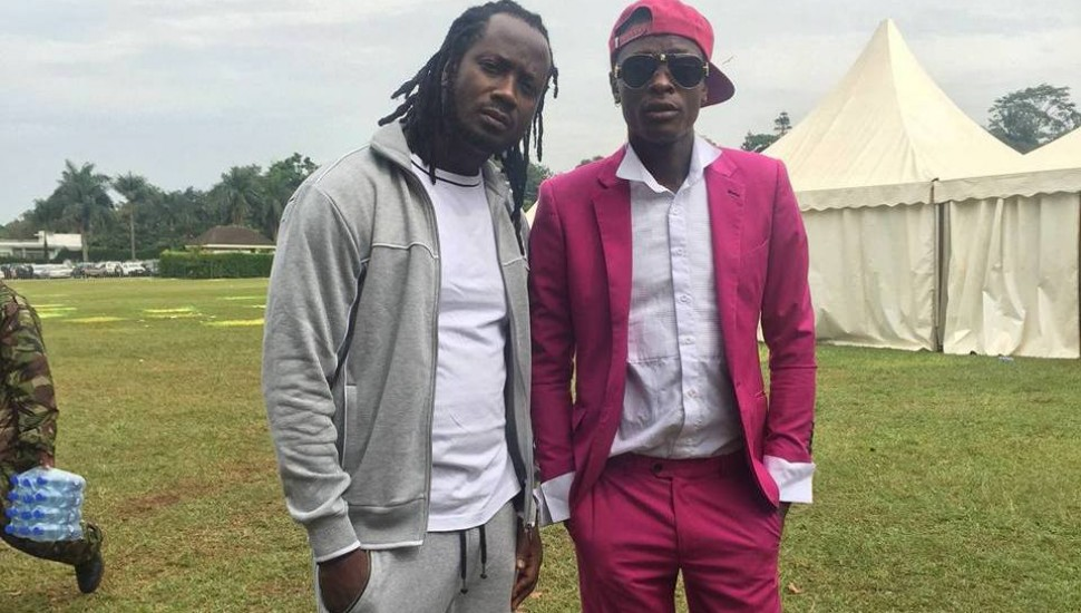 Chameleone and bebe cool car
