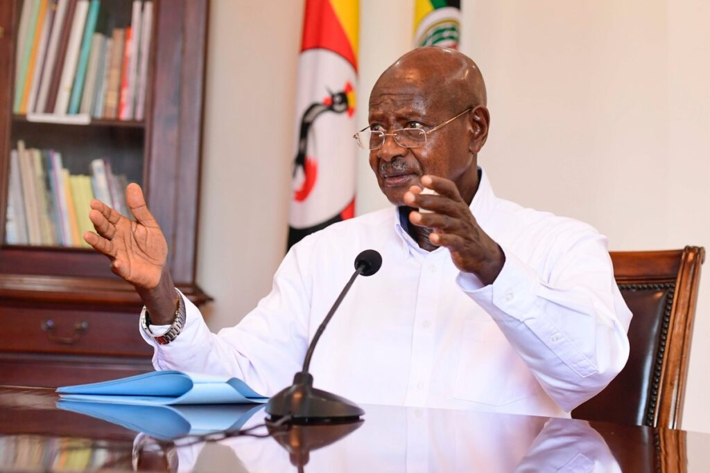 museveni suspends public transport
