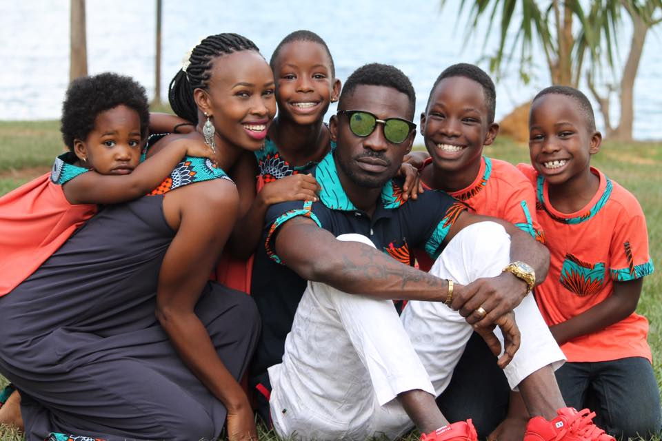 Bobi Wine and Barbie four children