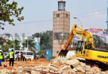 UNRA demolishing Clock Tower