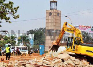 UNRA demolishing Clock Tower