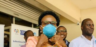 Uganda ministry Making Face Masks