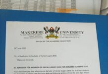 Makerere admit students under the Dental Surgery programme