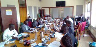 A team of Lira University delegates and secretary