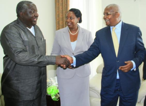 Sam Kutesa and his wife and Hon Okello Oryem