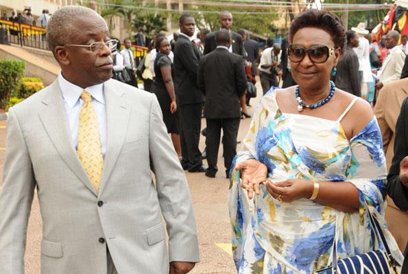 Amama Mbabazi and wife Jacqueline