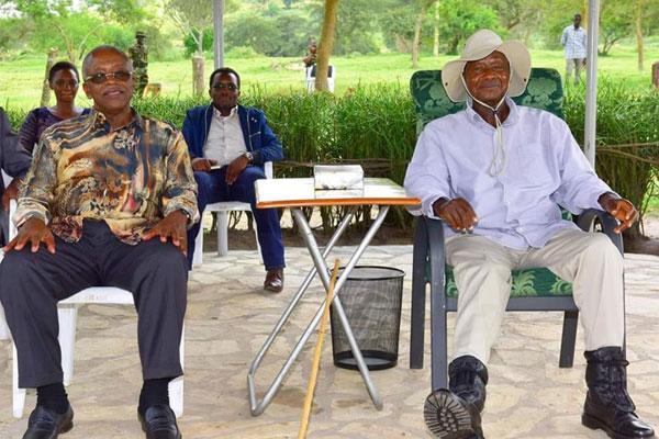 Amama Mbabazi was sacked by MUSEVENI