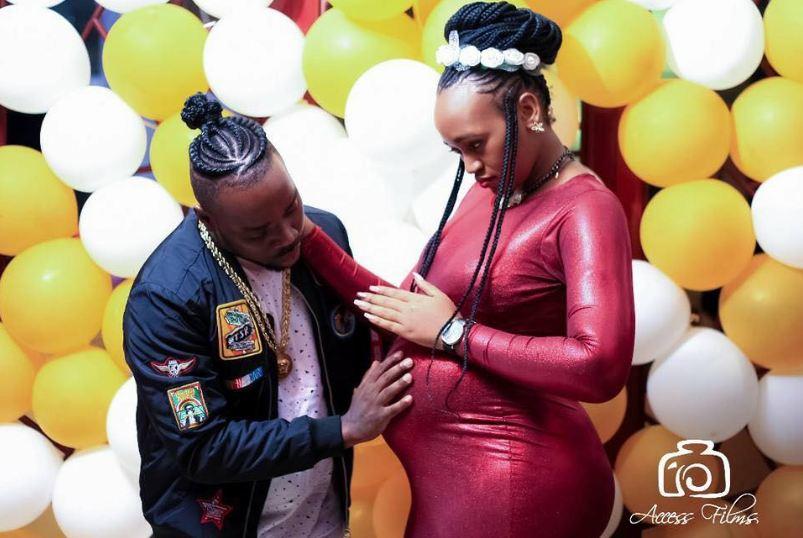 Aziz Mukasa with wife showing baby bump