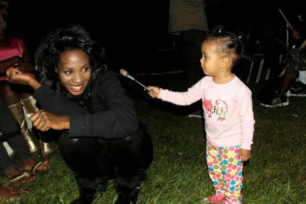 Cindy sanyu with daughter called Amani