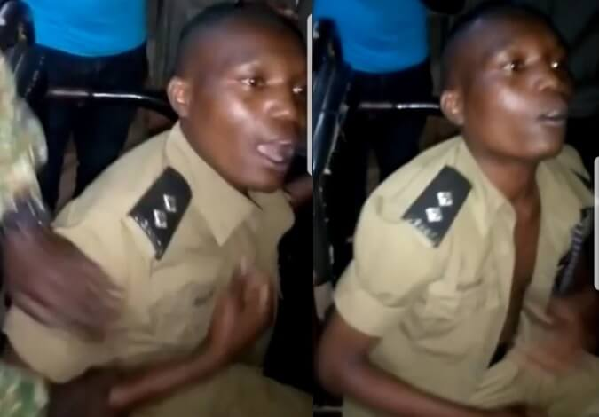 Father's Police Uniform detained