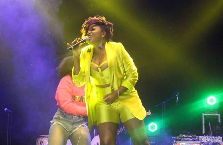 Irene Ntale started singing in a church