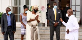 Museveni with sarah kanyike lukwago deputy