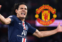 Edinson Cavani joins Manchester United