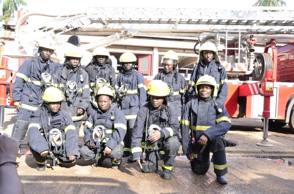 uganda police officers firefighting course