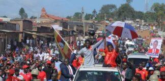 bobi wine campaign rallies IN mukono