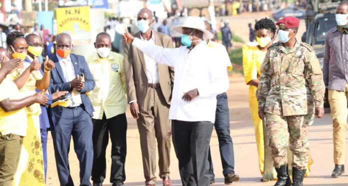 president museveni supporting the NRM