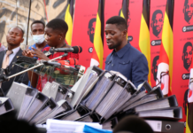 Bobi Wine tables Declaration Forms which are fake ec