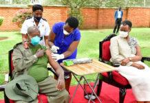 janet Museveni first jab of COVID-19 AstraZeneca vaccine