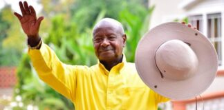 president museveni swearing-in police