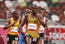 2020 Olympics Police Officers, Cheptegei and Chemutai (1)
