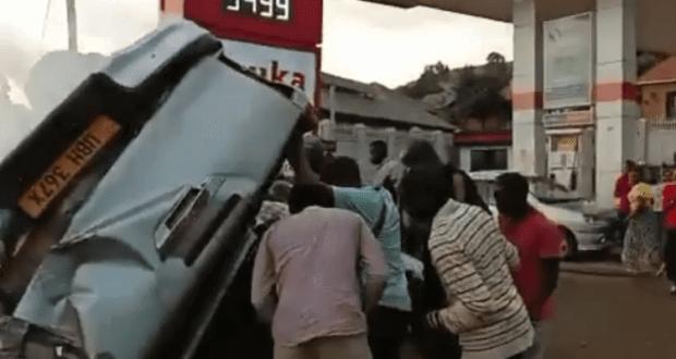 Eddy Kenzo in a frightening car accident (1)