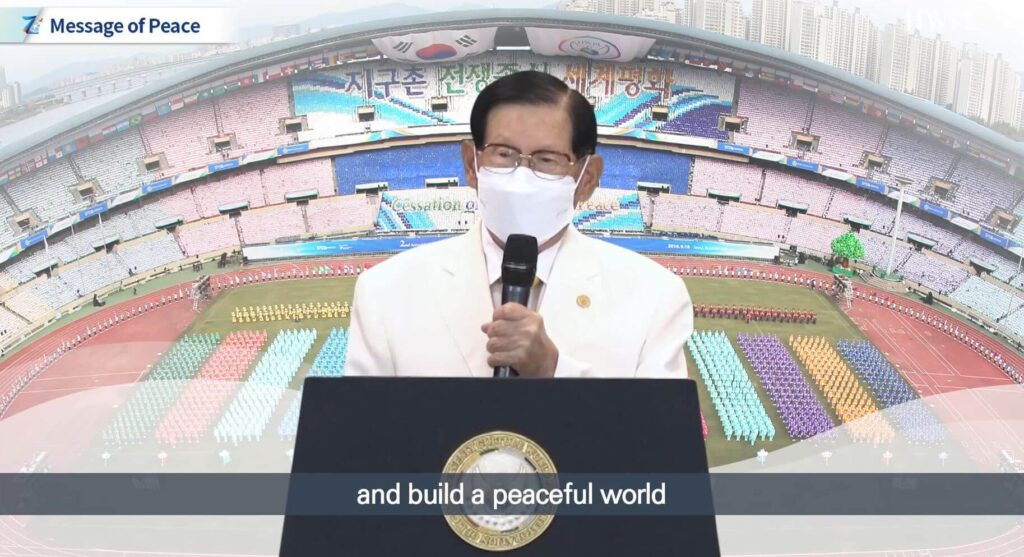 Chairman Man Hee Lee of HWPL Calling for Concerted Action to Build a Peaceful World (1)