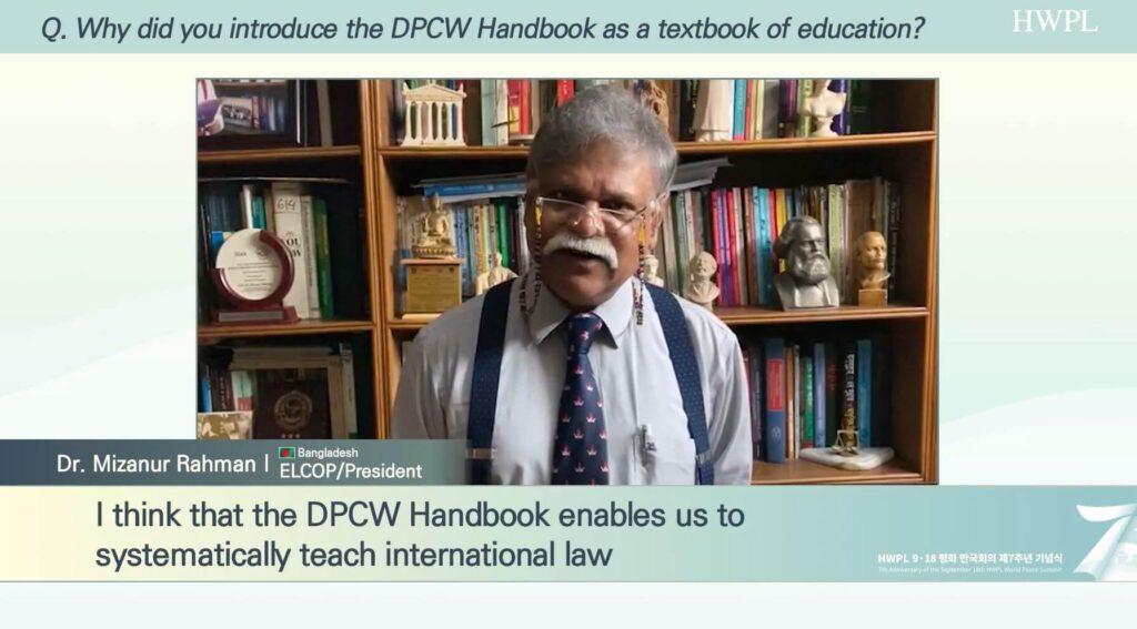 Dr. Mizanur Rahman Explaining the DPCW Handbook (1)