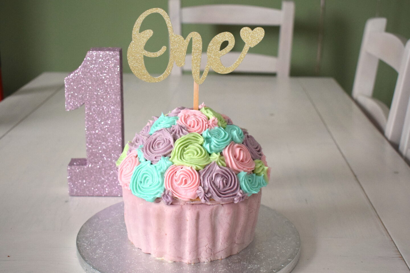 Dairy and soya free giant cupcake