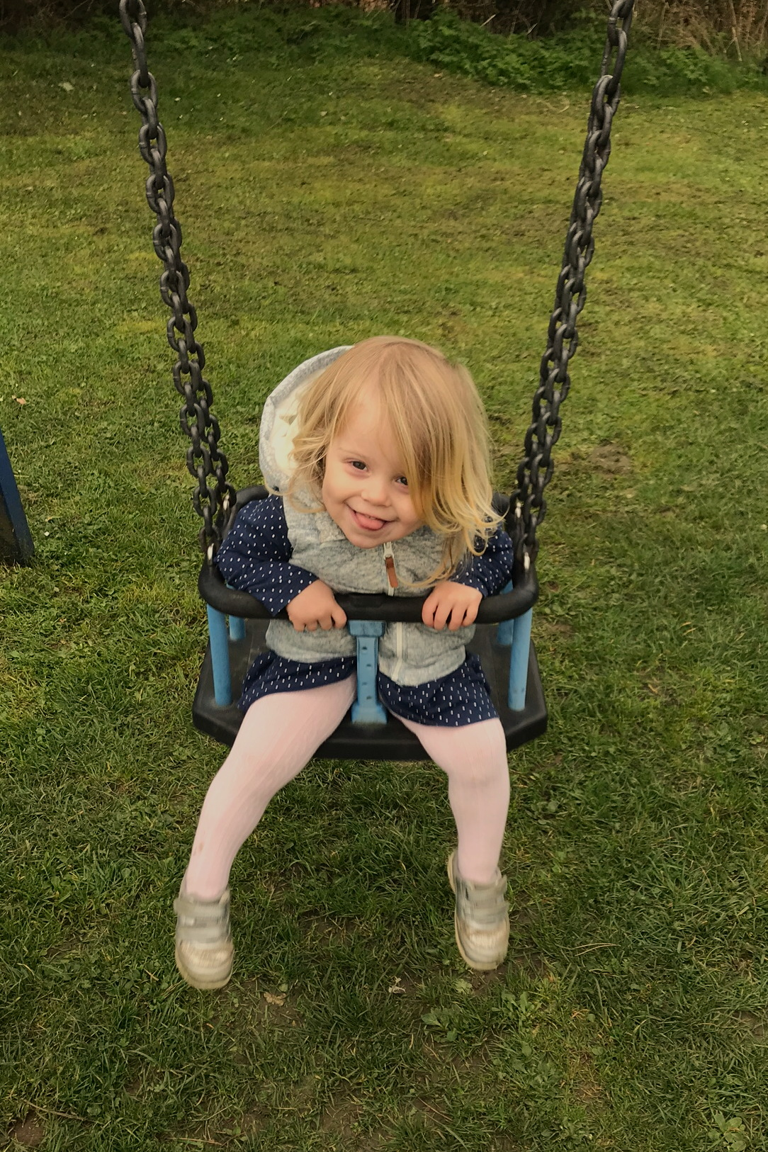 Two year old on a swing