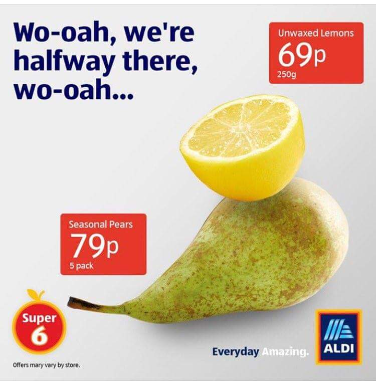 Best ad 2018 | Aldi, Living on a pear