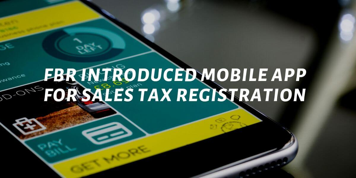 Mobile Application For Sales Tax Registration