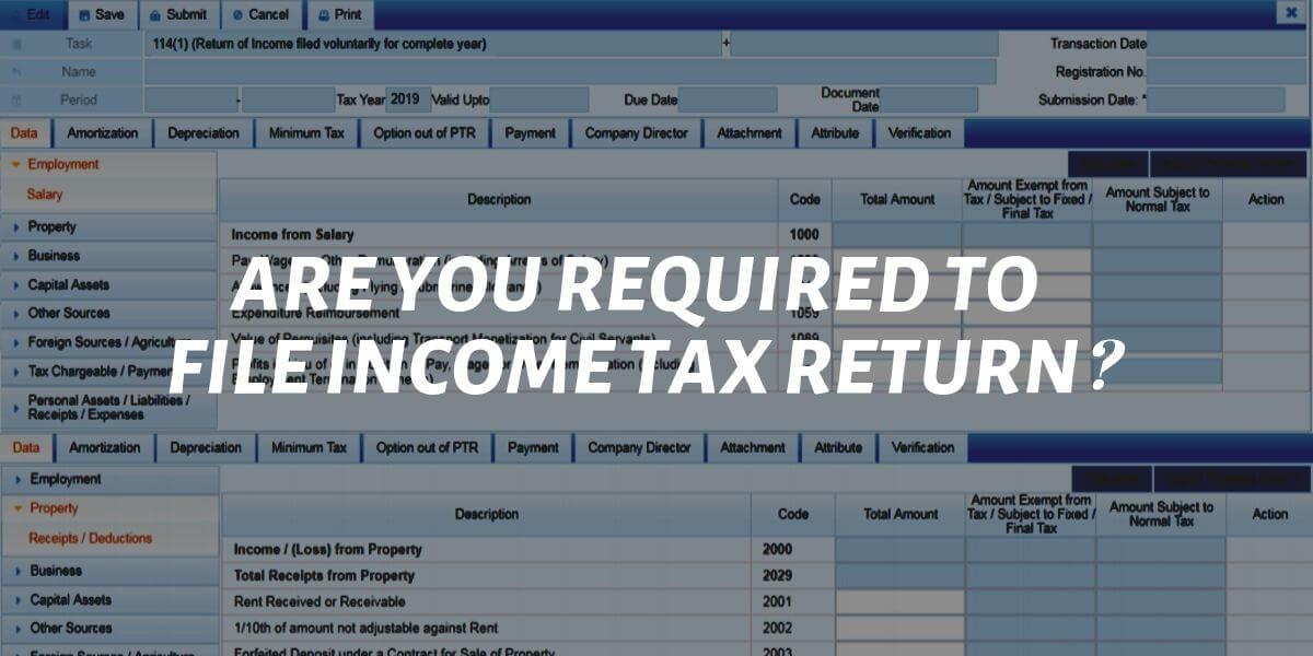 Are You Required To File Income Tax Return?