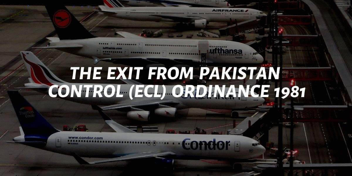 exit from pakistan control ecl ordinance