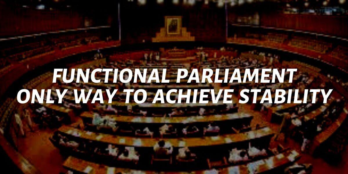 political stability through a functional parliament